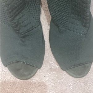 Chase + Chloe Shoes - Chase + chloe green sock open toe boot size 8.5